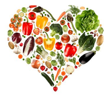 serce wykonane z warzyw